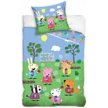 Detské posteľné obliečky Prasiatko Peppa - Bublinková párty