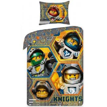 Bavlnené posteľné obliečky Lego Knights