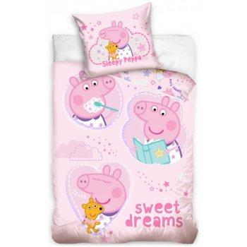 Obliečky do detskej postieľky Prasiatko Peppa - Sladké sny
