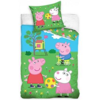 Detské posteľné obliečky Prasiatko Peppa na ihrisku