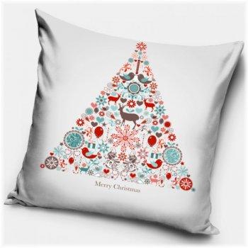 Povlak na vankúš Vianočný strom