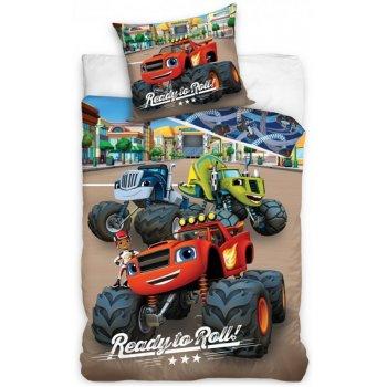 Detské posteľné obliečky Plamienok a štvorkolky