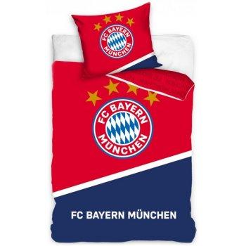 Bavlnené posteľné obliečky FC Bayern Mnichov - Blau Boden