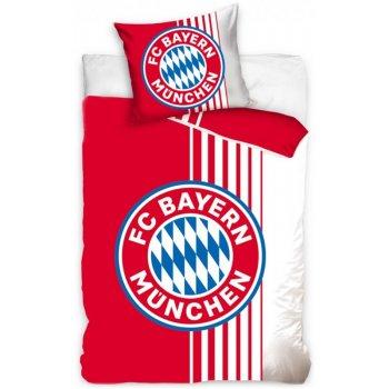 Bavlnené posteľné obliečky FC Bayern Mnichov - Rote Streife