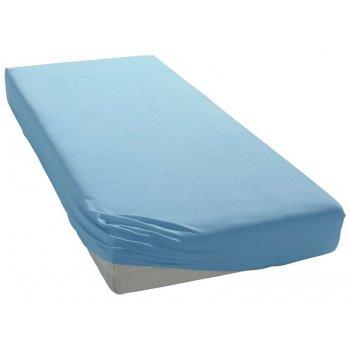 Jersey prestieradlo do detskej postieľky - 70 x 140 cm - modré