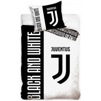Bavlnené posteľné návliečky Juventus FC - Black and White