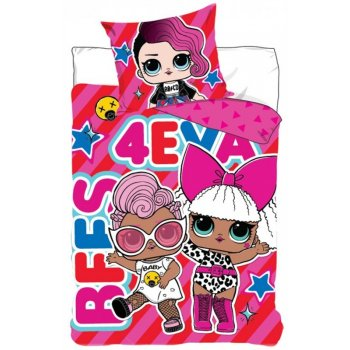 Bavlnené posteľné obliečky L.O.L. Suprise -  BFF's 4 EVA