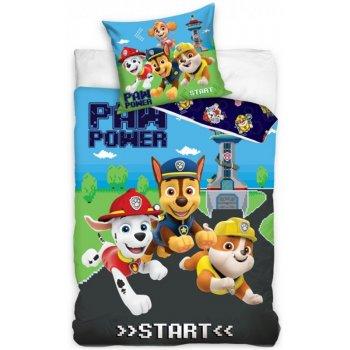 Bavlnené posteľné obliečky Paw patrol - Start Game