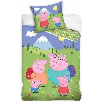 Detské posteľné obliečky Prasiatko Peppa na výlete