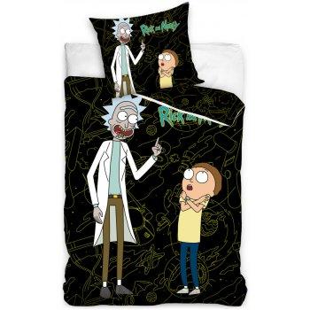 Bavlnené posteľné obliečky Rick and Morty