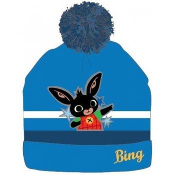 Detská zimná čiapka s brmbolcom Zajačik Bing