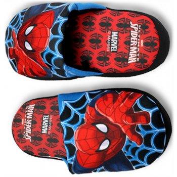 Chlapčenské papuče Spiderman - červené