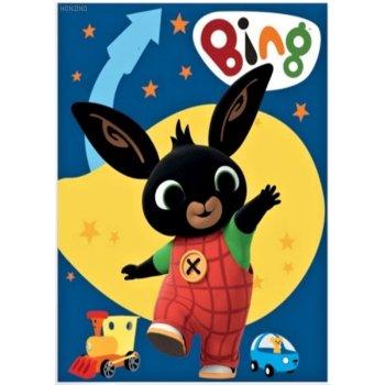 Detská fleecová deka Zajačik Bing Bunny - modrá