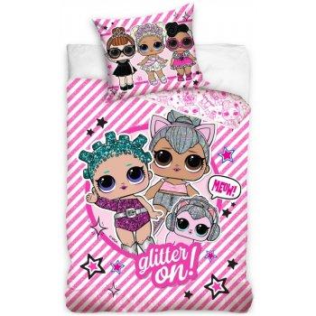 Bavlnené posteľné obliečky L.O.L. Suprise -  Glitter on!