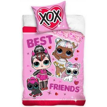 Bavlnené posteľné obliečky L.O.L. Suprise -  Best friends