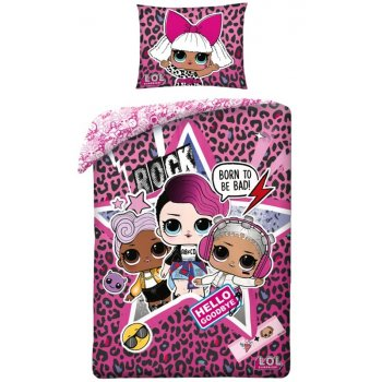 Bavlnené posteľné obliečky L.O.L. Suprise - Rock Diva