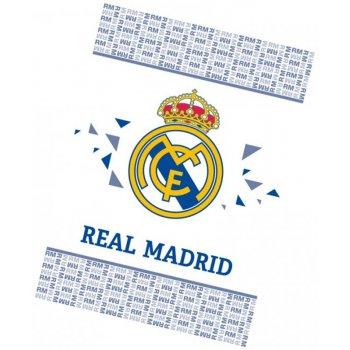 Futbalová fleecová deka FC Real Madrid - White