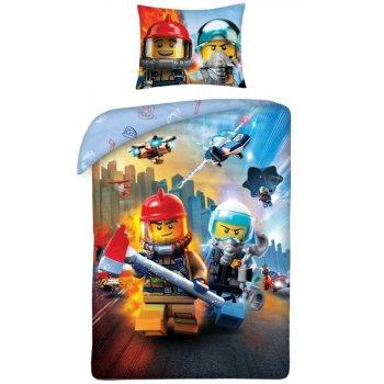 Bavlnené posteľné obliečky LEGO City - záchranári