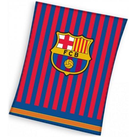 Veľká fleecová deka FC Barcelona - Clean