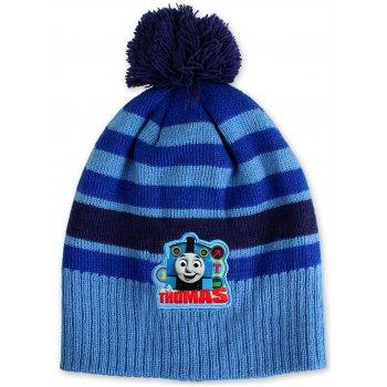 Chlapčenská zimná čiapka Lokomotíva Tomáš - sv. modrá