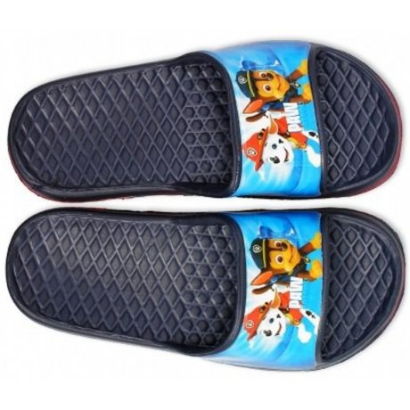 Chlapčenské gumové pantofle Tlapková patrola - tm. modré
