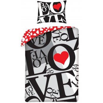 Bavlnené posteľné obliečky ♡ LOVE