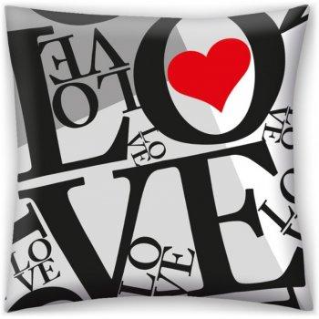 Dekoračný vankúš ♡ LOVE ♡