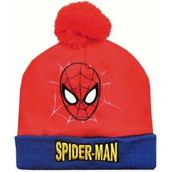 Chlapčenská zimná čiapka s brmbolcom Spider-Man