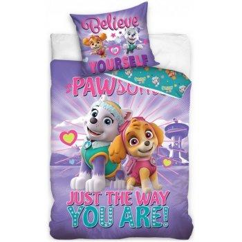 Bavlnené posteľné obliečky Paw Patrol - Skye a Everest