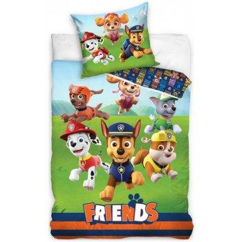 Bavlnené posteľné obliečky Paw Patrol - Priatelia