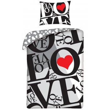 Bavlnené posteľné obliečky ❤ LOVE ❤