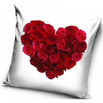 Povlak na vankúš Srdce z ruží
