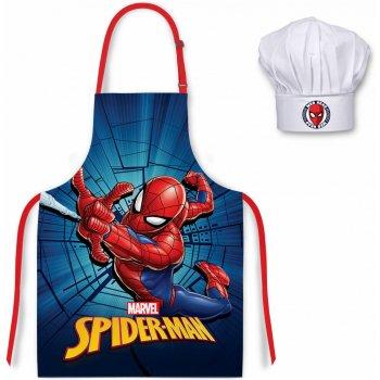 Detská zástera s kuchárskou čiapkou Spiderman