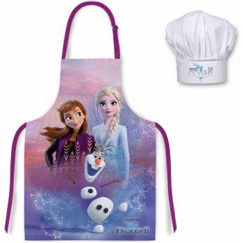 Detská zástera s kuchárskou čiapkou Ľadové kráľovstvo - Frozen