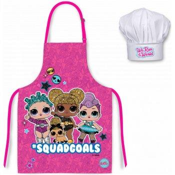 Detská zástera s kuchárskou čiapkou L.O.L. Surprise