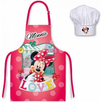 Detská zástera s kuchárskou čiapkou Minnie Mouse - Disney - LOVE
