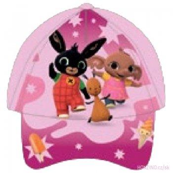 Dievčenská šiltovka Zajačik Bing - svetlo ružová
