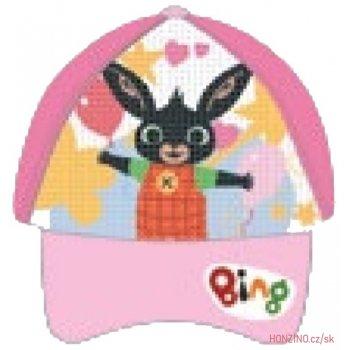 Dětská šiltovka Zajačik Bing s preklápacími flitrami - ružová
