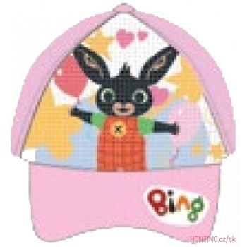 Dětská šiltovka Zajačik Bing s preklápacími flitrami - svetlo ružová