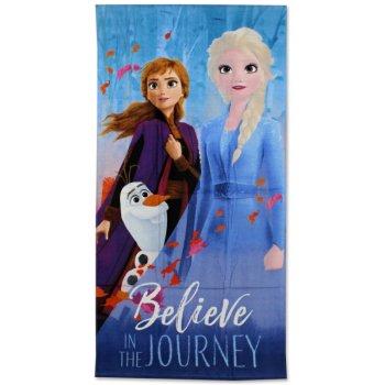 Plážová osuška Ľadové kráľovstvo 2 - Believe in The Journey