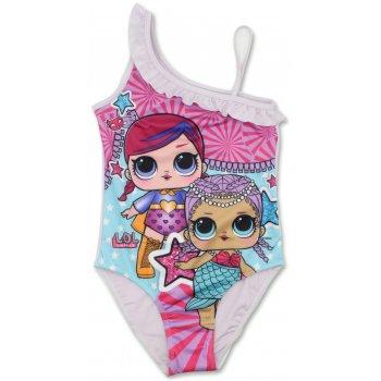 Dievčenské jednodielne plavky L.O.L. Surprise - biele