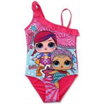Dievčenské jednodielne plavky L.O.L. Surprise - ružové