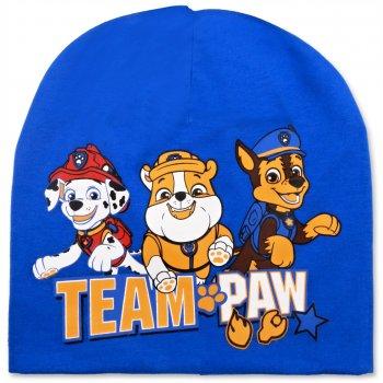 Chlapčenská jarná / jesenná čiapka Paw Patrol - sv. modrá