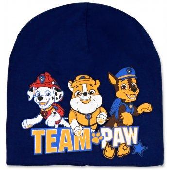 Chlapčenská jarná / jesenná čiapka Paw Patrol - tm. modrá