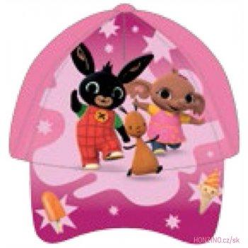 Dievčenská šiltovka Zajačik Bing - stredně ružová