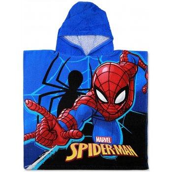 Detské plážové pončo - osuška s kapucňou Spiderman - MARVEL