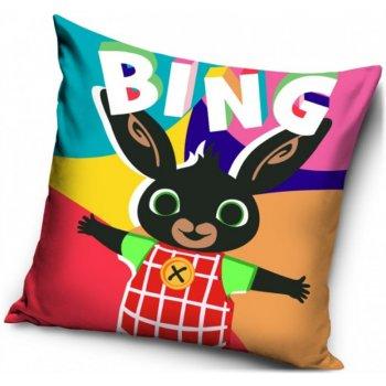Pestrofarebný povlak na vankúš Zajačik Bing