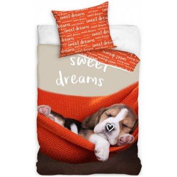 Bavlnené posteľné obliečky šteniatko - Sweet dreams