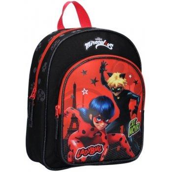 Detský batoh s predným vreckom Kúzelná lienka a čierny kocúr