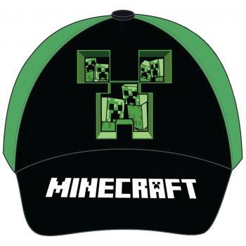 Šiltovka Minecraft - čierno / zelená